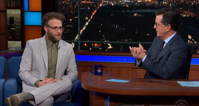 Seth Rogen says he smokes weed every day. Credit: The Late Show with Stephen Colbert