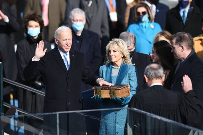 Joe Biden was sworn in as the 46th President of the United States. Credit: PA