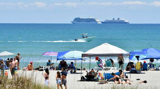 Police are enforcing tougher measures to combat the rise in littering on Cocoa Beach, Florida. Credit: PA