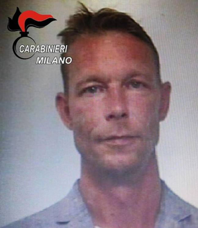 Christian B is the main suspect. Credit: Italian Carabinieri Press Office