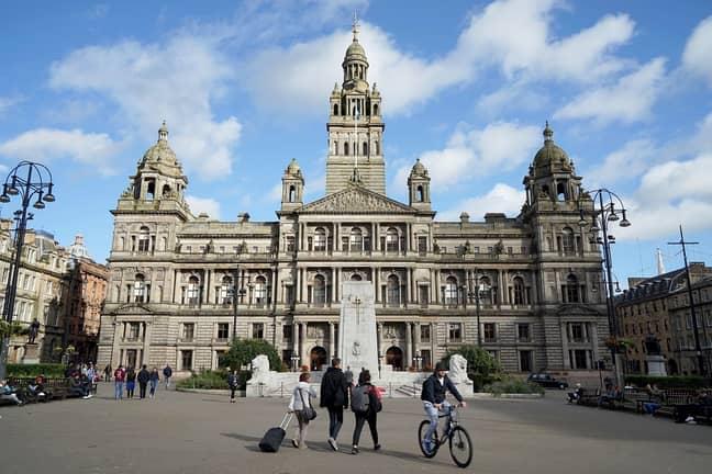 Glasgow City Chambers. Credit: PA