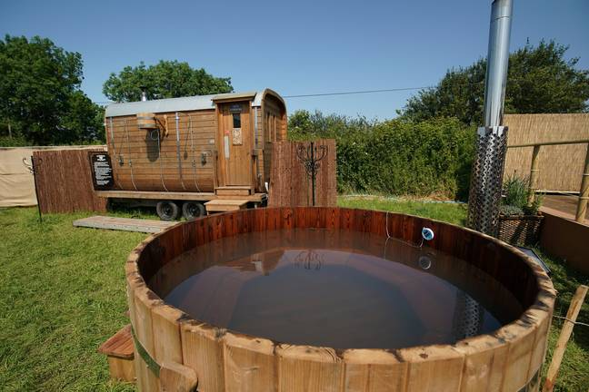 And hot tubs... just in case you fancy a dip. Credit: SWNS