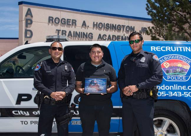 José was hailed by the police. Credit: Albuquerque Police Department
