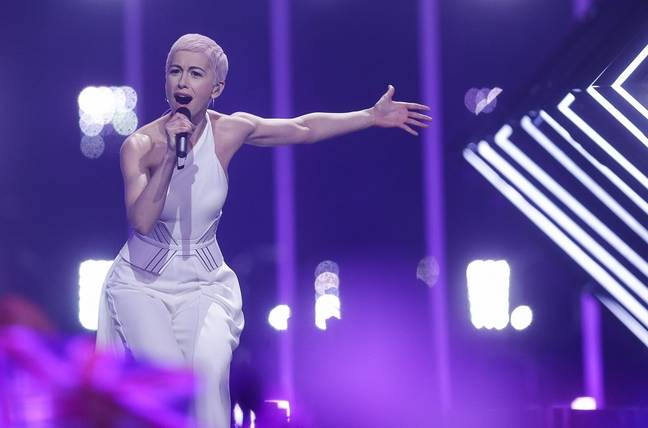 SuRie performs at this year's Eurovision Song Contest. Credit: PA
