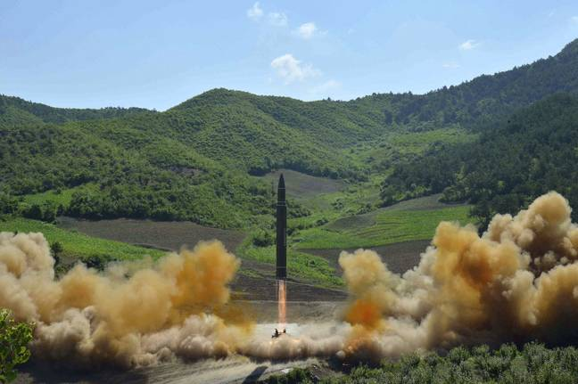 Nuclear missile launch