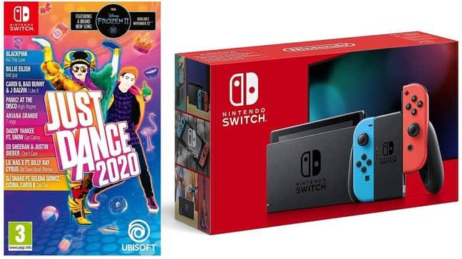Nintendo Switch Neon & Just Dance