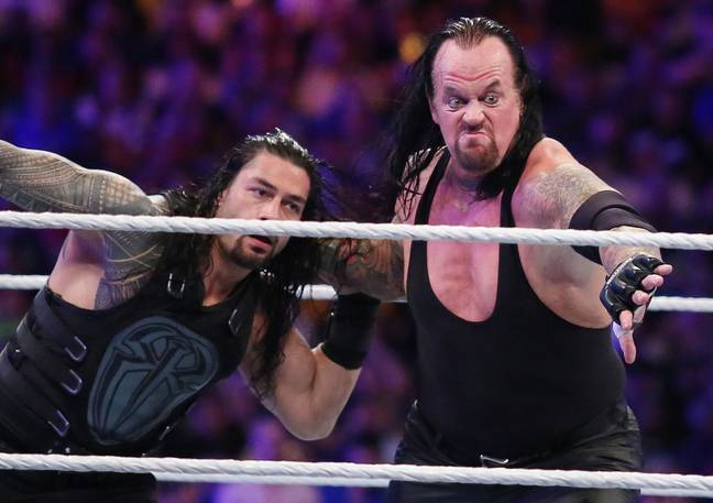 The Undertaker (right) thinks The Rock would unite America as POTUS. Credit: PA