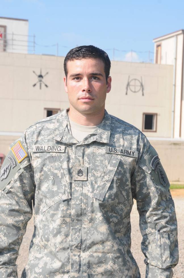 Walding is now out of the forces, but wants to continue giving back. Credit: John Wayne Walding