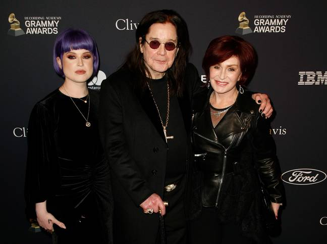 Ozzy with daughter Kelly and wife Sharon. Credit: PA