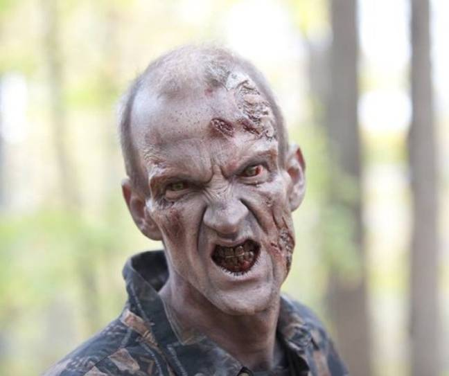 Mundy played a zombie in The Walking Dead. Credit: AMC Studios