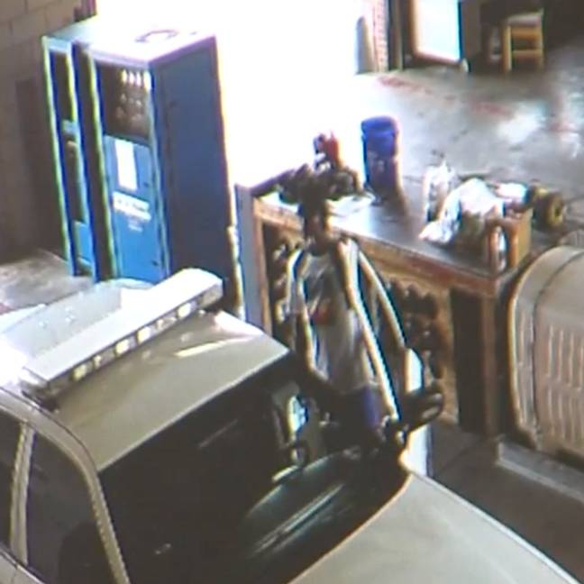 McCants (allegedly) on the fire station CCTV. Credit: FOX10