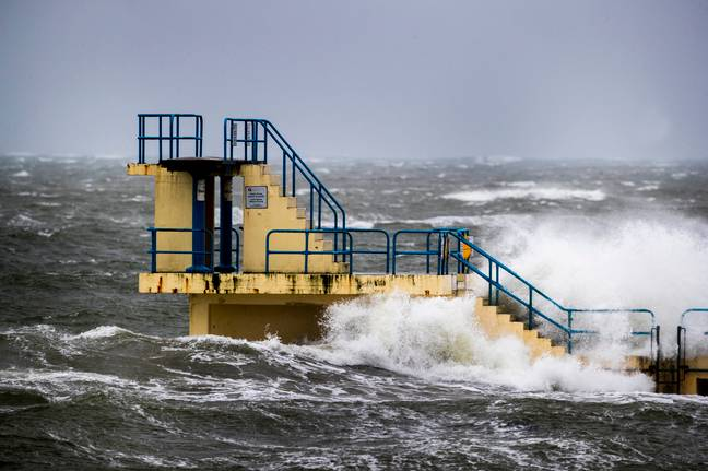 The Met Office has issues an Amber 'danger to life' warning across much of the English and Welsh coastline. Credit: PA
