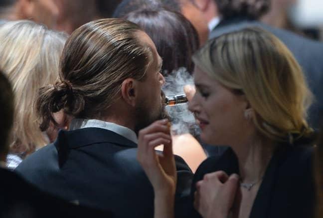 Leo DiCaprio vaping