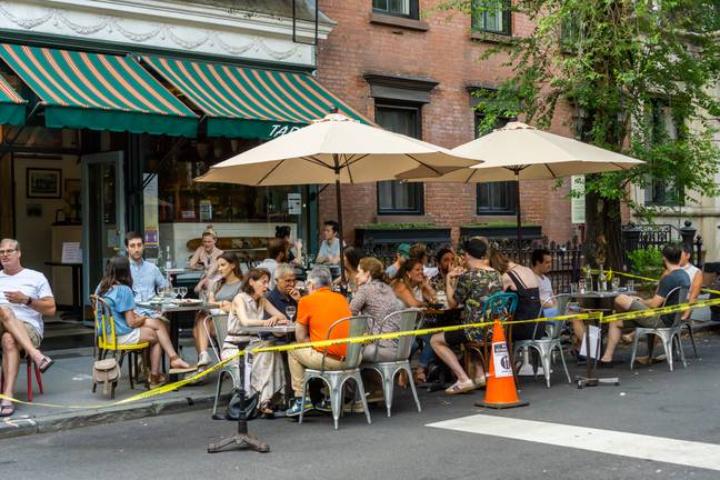 Pubs and bars have increased their outdoor dining options following lockdown. Credit: PA