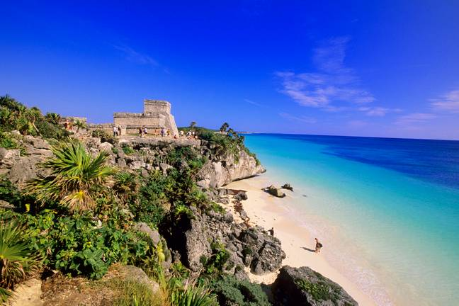 Mayan ruins in nearby Tulum. Credit: PA