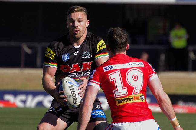 Cartwright when he played for the Penrith Panthers. Credit: NAPARAZZI (Flickr)