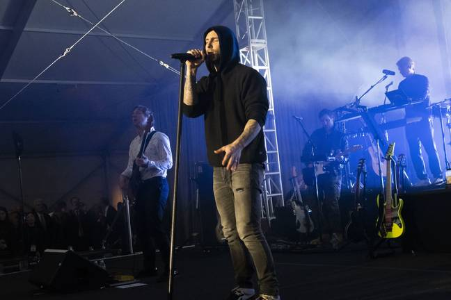 Maroon 5 in concert. Credit: PA