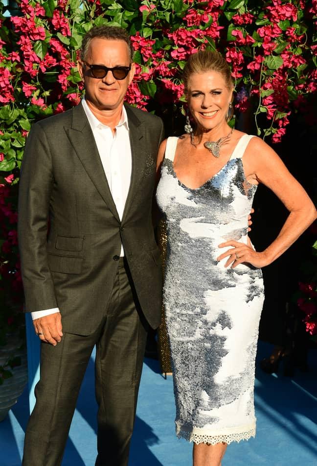 Tom Hanks and Rita Wilson. Credit: PA