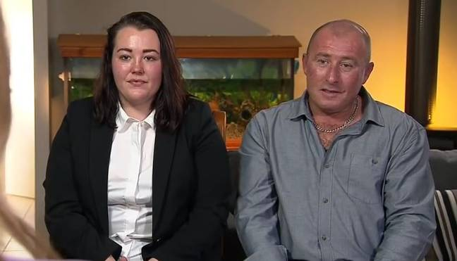 Casey and Brad. Credit: A Current Affair/Nine News