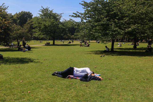 Temperatures could read as high as 24°C. Credit: PA