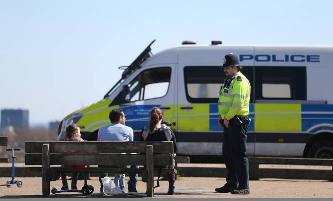 Police in England and Wales have issued an average of less than 84 fines per day. Credit: PA