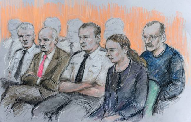 The Philpotts (right) at their trial. Credit: PA
