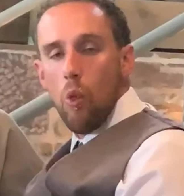 The groom had drank 'a few beers'. Credit: LADbible