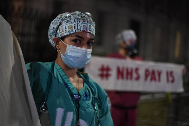 NHS staff called for Boris Johnson to go. Credit: PA