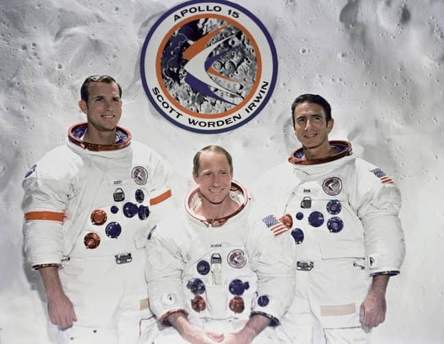 The Apollo 15 crew. Credit: PA