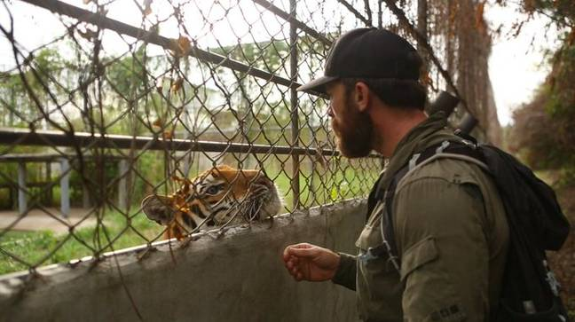 Aldo Kane was appalled by the conditions he found some tigers in on the farms. Credit: BBC