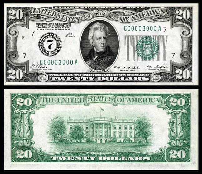 $20 US Dollar Bill