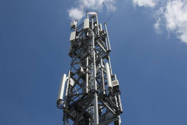 A 5G tower. Credit: PA