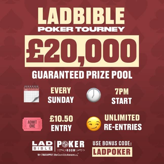 The LADbiblePoker Tournament This Sunday