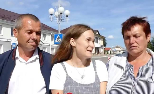 Yulia has been reunited with her parents after 20 years. Credit: east2west news