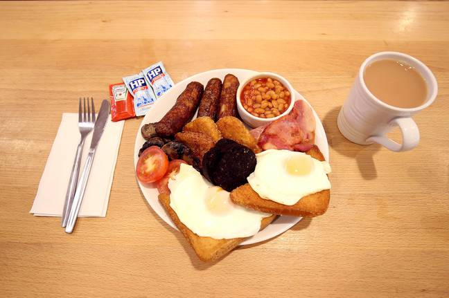 A new survey found that younger people are turning their backs on the full English. Credit: PA