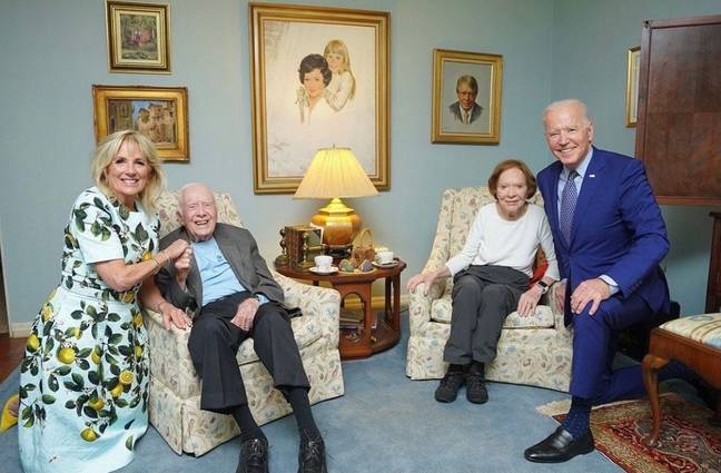 Joe Biden and wife Jill have been branded 'giants'. Credit: Jimmy Carter Presidential Library
