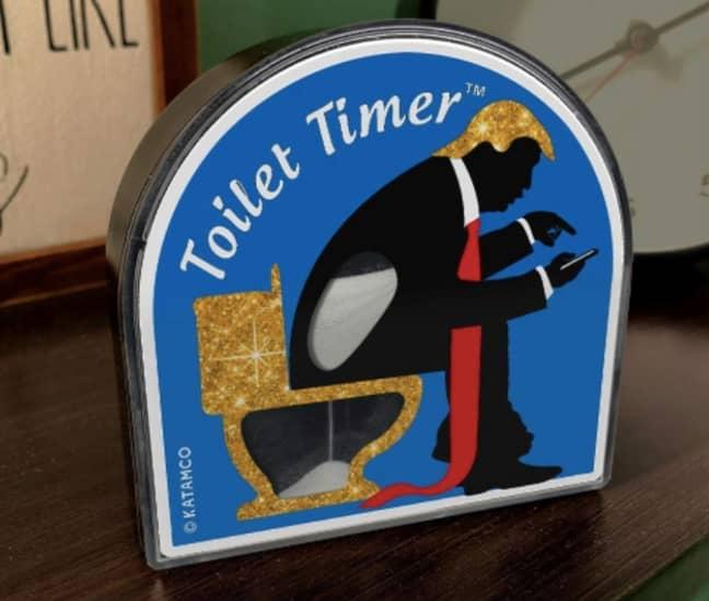 Trump dump timer anyone? Credit: Amazon/Katamco