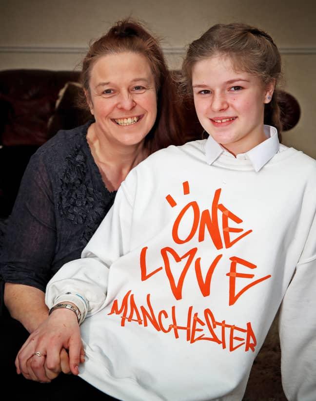 Amelia with her mum, Lisa. Credit: PA