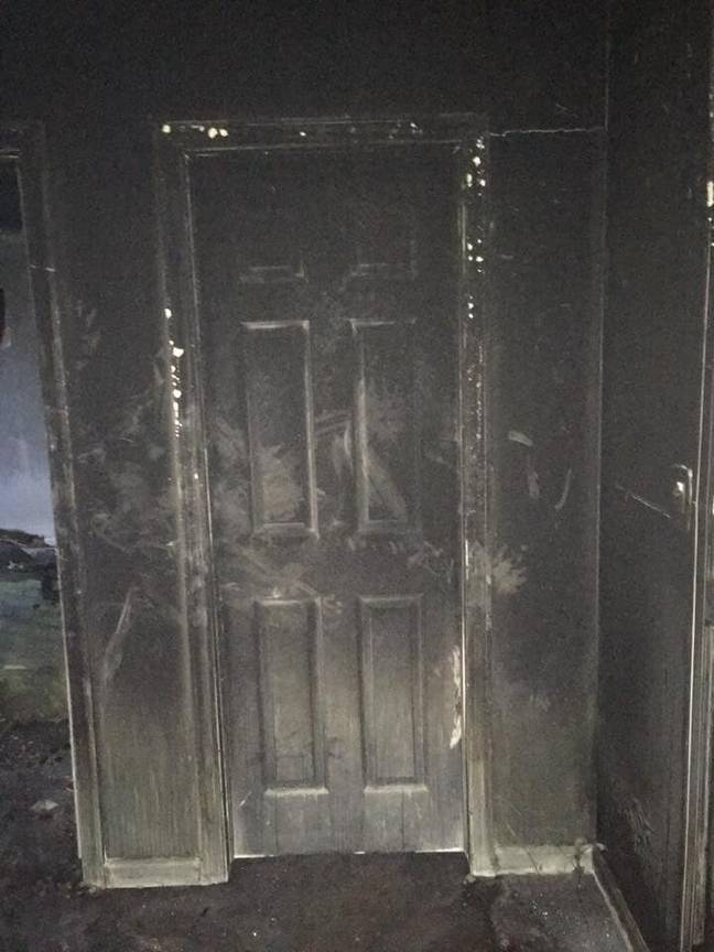 The firefighter wanted to warn parents of the dangers of leaving their children's doors open at night. Credit: Facebook