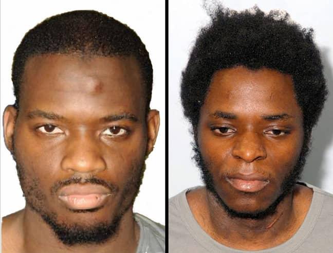 Killers Michael Adebolajo and Michael Adebowale. Credit: PA