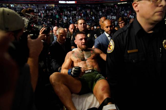 McGregor threatened Poirier - before and after the fight. Credit: PA