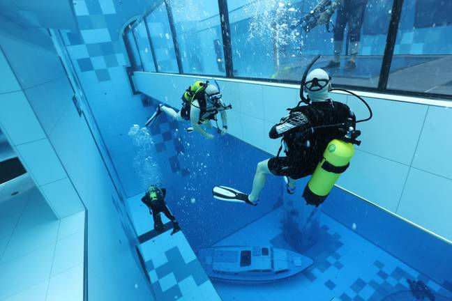 The new centre is the deepest pool in the world. Credit: Deepspot