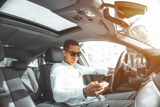 Driving on your phone is definitely out of the question. Credit: Pexels