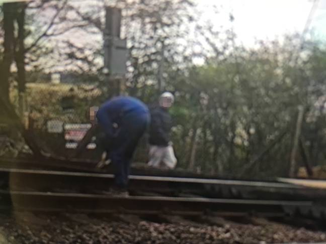 Police have urged parents to make sure their kids know not to do this. Credit: Network Rail