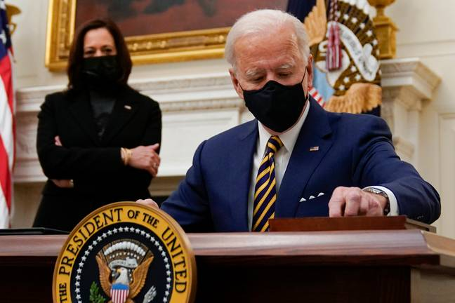 A lawsuit has been filed against Joe Biden's administration over an executive order. Credit: PA