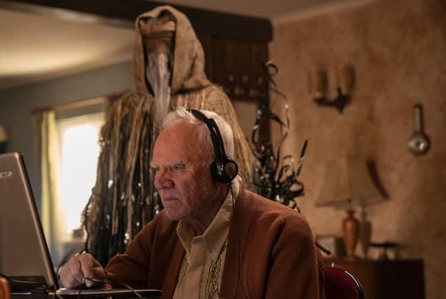 Malcolm McDowell as Richard. Credit: Amazon Prime