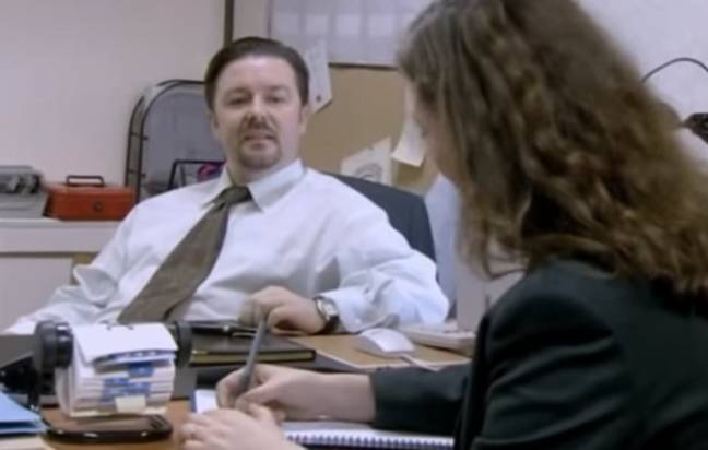 Ricky Gervais as David Brent in The Office. Credit: BBC