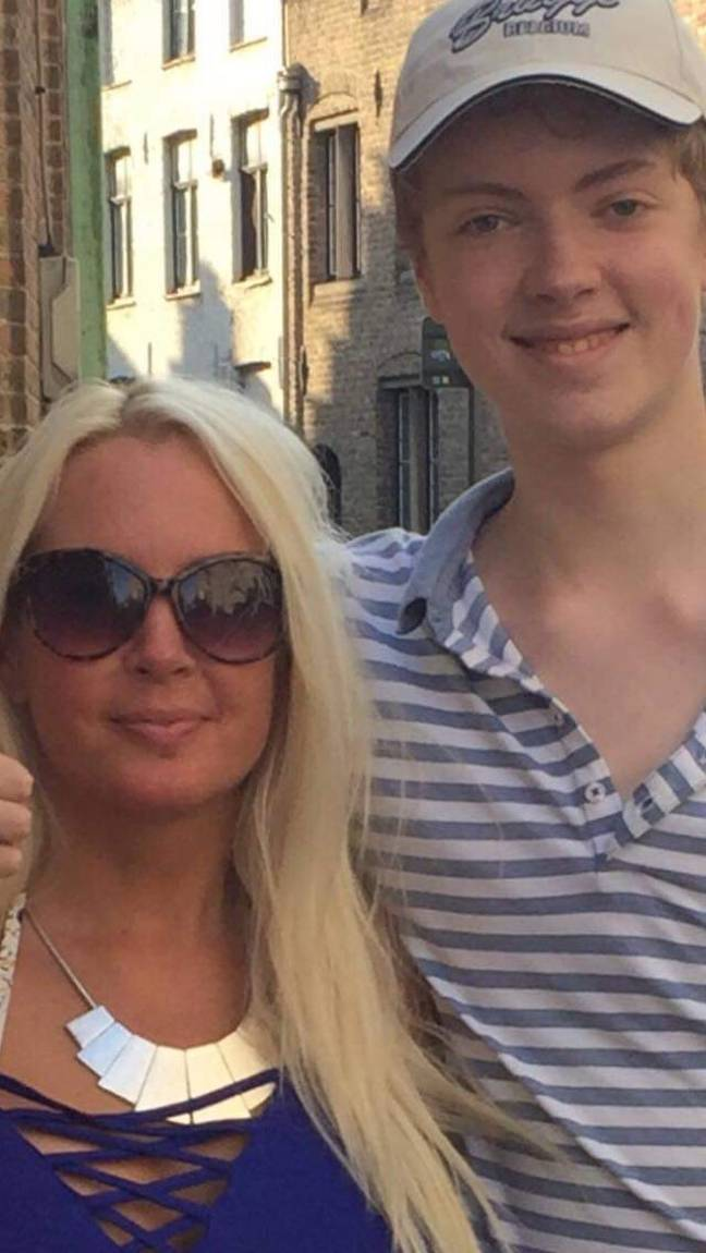 Shany's son, Tom, is now worried that he looks older than his mum. Credit: Triangle News