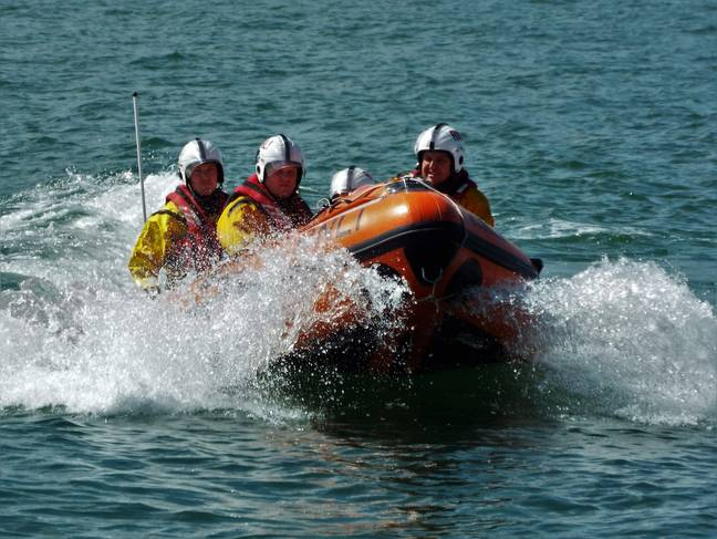 The RNLI rescued a teenager who fell into the sea over Easter. Credit: RNLI