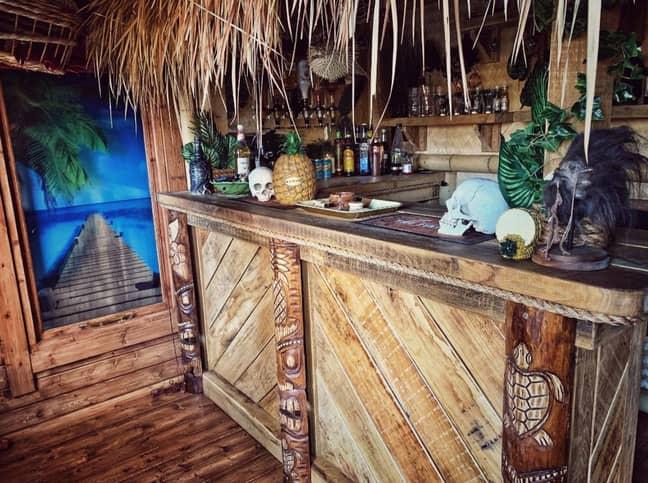 The tiki bar. Credit: Kennedy News